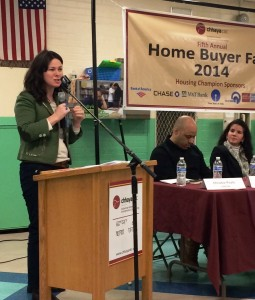 Christie Peale moderating a panel at Chhaya's Home Buyer Fair